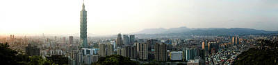 Taipei In Panorama Poster