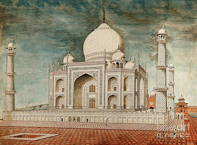 Taj Mahal, 19th Century Illustration Poster by Wellcome Images