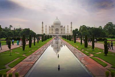 Taj Mahal At Sundown Poster