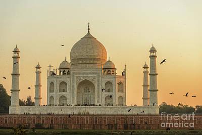 Taj Mahal At Sunset 01 Poster