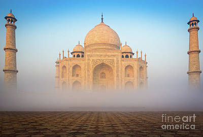 Taj Mahal In The Mist Poster by Inge Johnsson