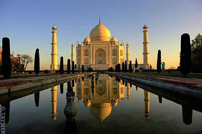 Taj Mahal Poster by Tayseer AL-Hamad