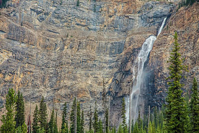 Poster featuring the photograph Takakkaw Falls 2009 by Jim Dollar