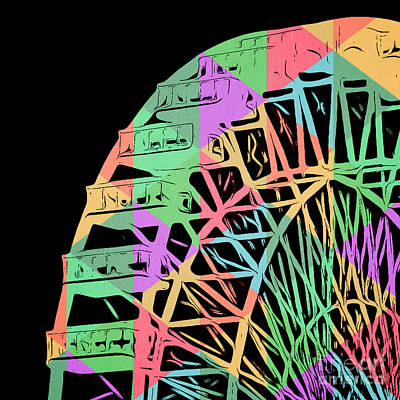 Take A Ride On The Ferris Wheel Poster by Edward Fielding
