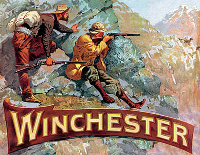 Poster featuring the painting Taking Aim by Fredrick Remington