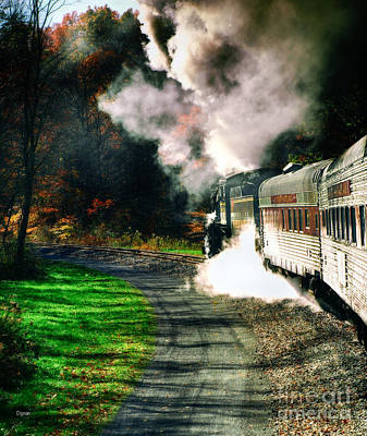 Taking Autumn By Train  Poster by Steven Digman