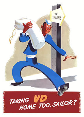 Taking Vd Home Too Sailor Poster by War Is Hell Store