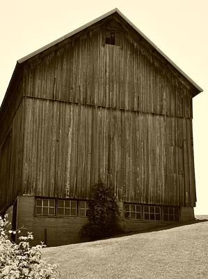 Tall Barn On Hillside Poster