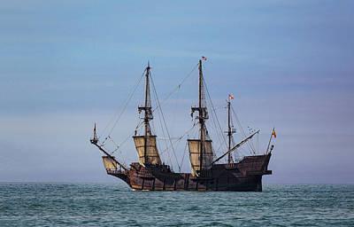 Tall Ship El Galeon Poster