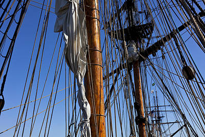 Tall Ship Rigging Lady Washington Poster
