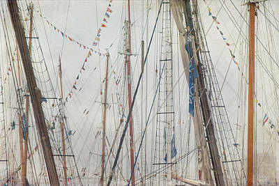 Tall Ships And Schooners Rigging And Masts  Poster