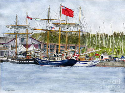 Poster featuring the painting Tall Ships Festival by Melly Terpening