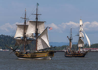 Tall Ships Square Off Poster