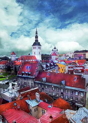 Tallinn City Art 3 Poster