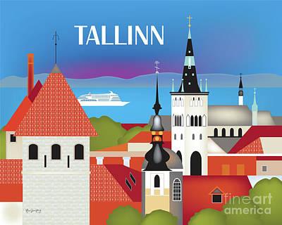 Tallinn Estonia Horizontal Scene Poster
