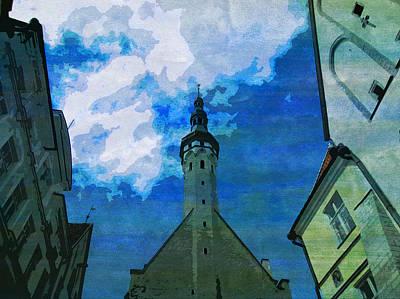 Tallinn Estonia Landscape Old City  Poster