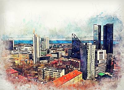 Tallinn Poster by Justyna JBJart