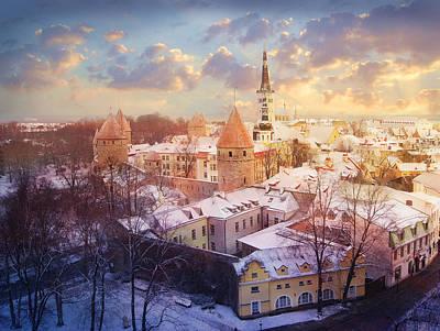 Tallinn Poster by Marina Grey