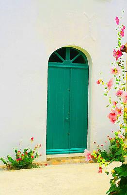 Talmont Green Door Poster by Alex Antoine