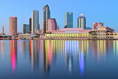 Tampa Bay Aglow 2016 Poster by Frozen in Time Fine Art Photography
