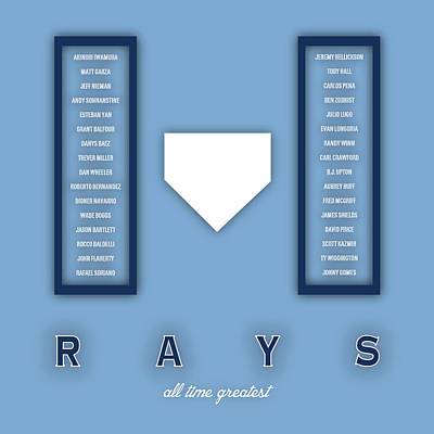 Tampa Bay Rays Art - Mlb Baseball Wall Print Poster