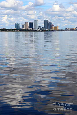 Tampa Skyline Over The Bay Poster by Carol Groenen