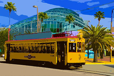 Tampa Trolley Poster by David Lee Thompson