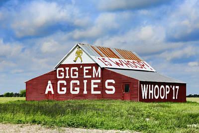 Tamu Aggie Barn Poster by Stephen Stookey