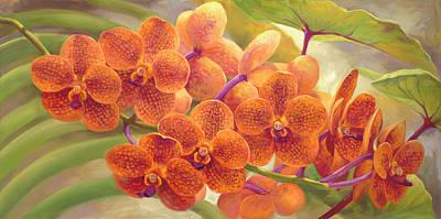 Tangerine Vanda Poster