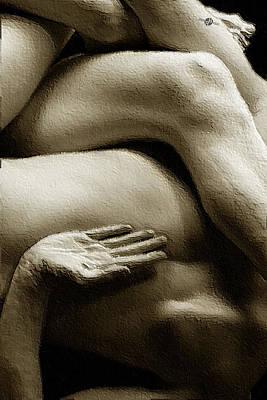 Tangled Bodies Intimate Anonymity 1 Poster by Tony Rubino