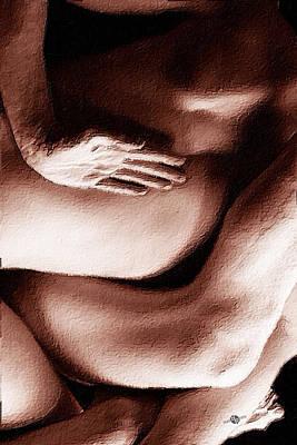 Tangled Bodies Intimate Anonymity 3 Poster by Tony Rubino