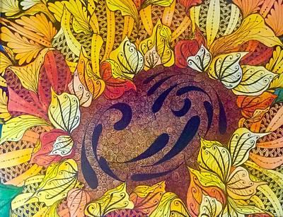 Tangled Sunflower Poster