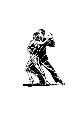 Tango Al Reves Poster by Brian Dahlen