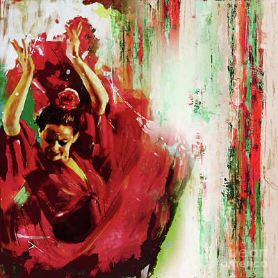 Poster featuring the painting Tango Dance 45g by Gull G