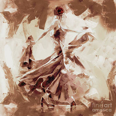 Poster featuring the painting Tango Dance 9910j by Gull G