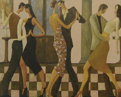 Poster featuring the painting Tango Night by Glenn Quist