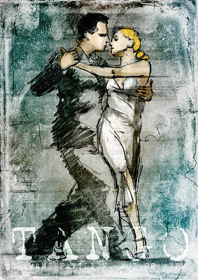 Tango Poster Poster by H James Hoff