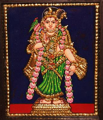 Tanjore Painting - Andal Poster