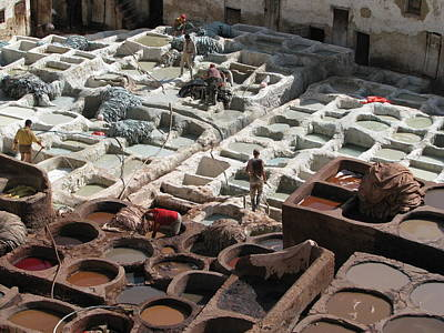 Poster featuring the photograph Tanneries At Fez by Erik Falkensteen