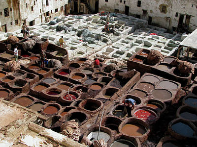 Poster featuring the photograph Tanneries At Fez Morocco by Erik Falkensteen