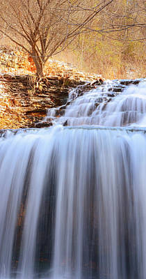 Tanyard Creek Waterfall Arkansas Poster