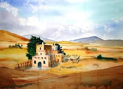 Taos Adobe Poster by Larry Hamilton