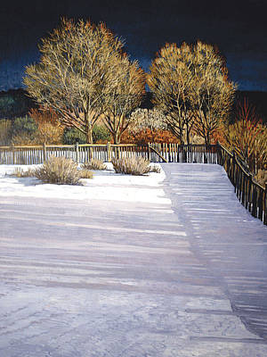 Taos Afternoon Shadows Poster by Donna Clair