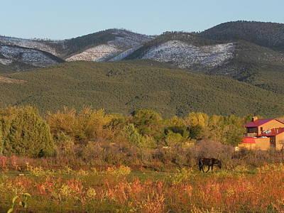 Taos New Mexico Scene Poster