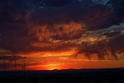 Taos Virga Sunset Poster