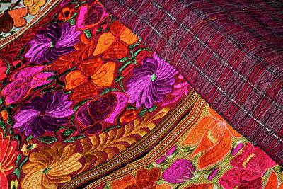 Tapestries At A Santa Fe Market Poster