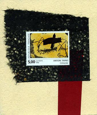 Tapies Stamp Collage Poster