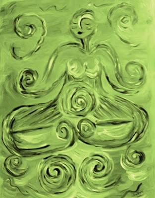 Tara Lotus Poster by Shelley Bain