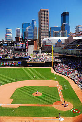 Target Field, Home Of The Twins Poster by James Kirkikis