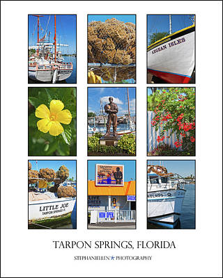 Tarpon Springs Poster Poster by Stephanie Hayes